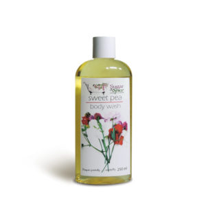 Sweet Pea Natural Shower Gel Sugar and Spice Maple Ridge BC