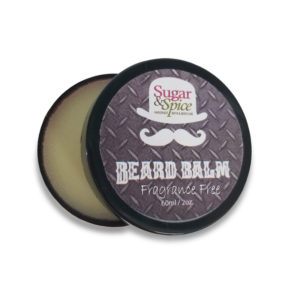 Fragrance Free Beard Balm all Natural product from Sugar and Spice Bath and Body Maple Ridge BC
